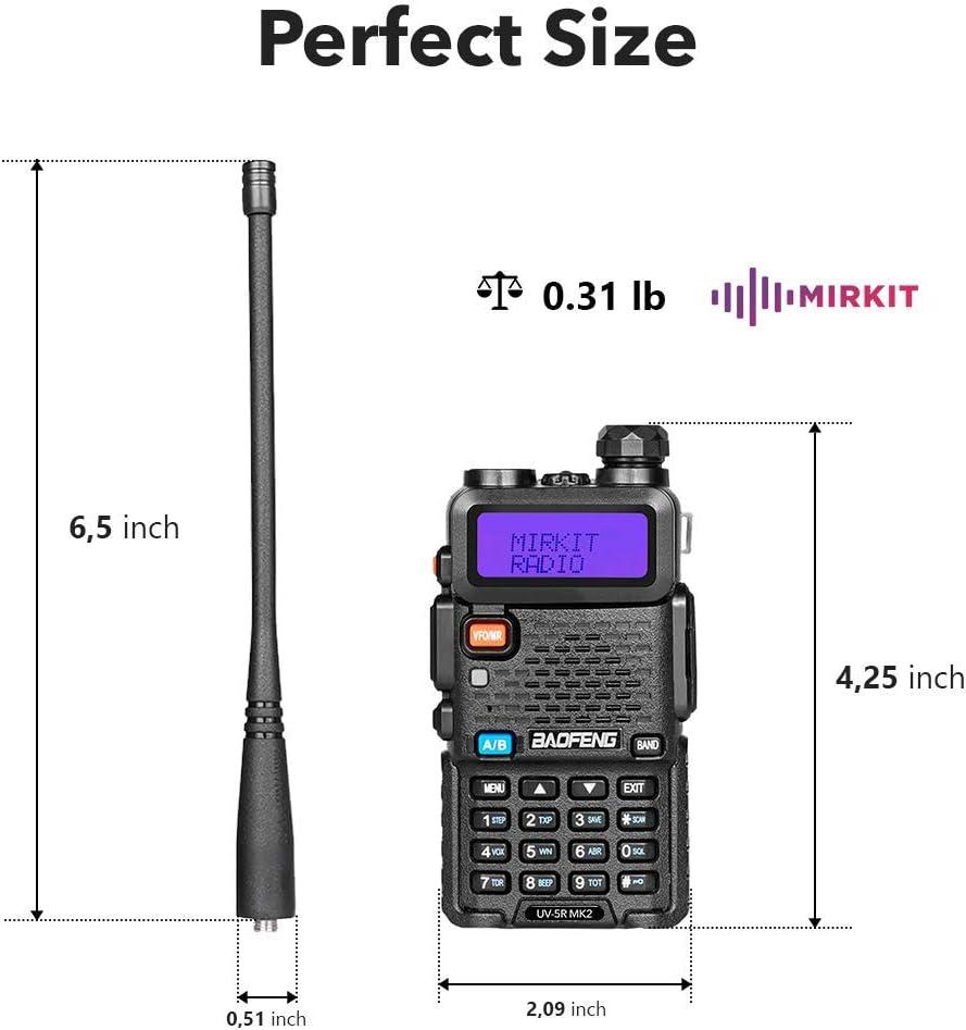 Two Way Radios Mirkit Edition 2PCs Baofeng Radios UV-5R MK4 8 Watt MP Max Power with Programming Cable Compatible with Baofeng Ham Radio
