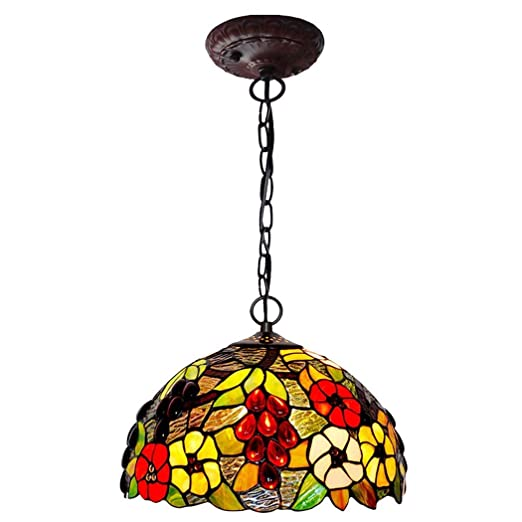 Amazon.com: Chandeliers, Tiffany Style Stained Glass Raisin ...