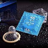 FairytaleMM 100 Unids/Pack Super Thin Natural Latex Hombres Adultos Larga Duración Condones Suave Lubricación Sexo Más Seguro Penis Sleeve Condoms (Color: Azul)