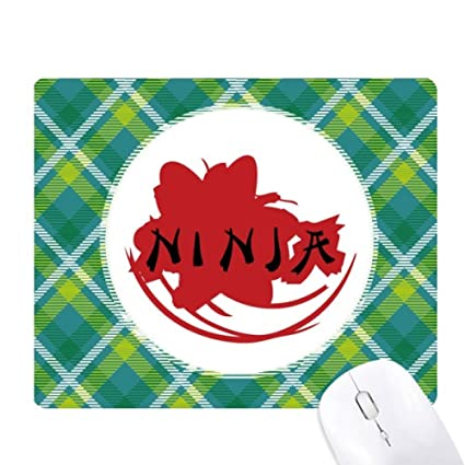 Amazon.com : Japan Ninja Words Sakura Silhouette Green ...