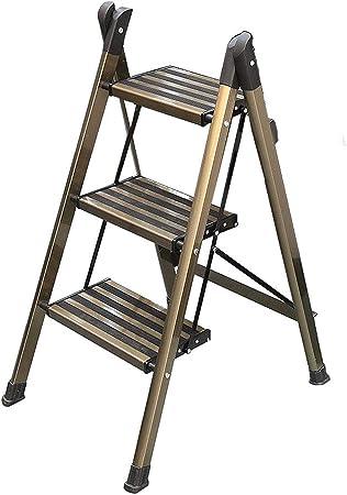 3 peldaños de aluminio Escalera con peldaños Escalera plegable Escalera Escalera con peldaños Escalera con peldaños Escalera para dormitorio Taburete con taburete de almacenamiento Escalera Escalera: Amazon.es: Hogar