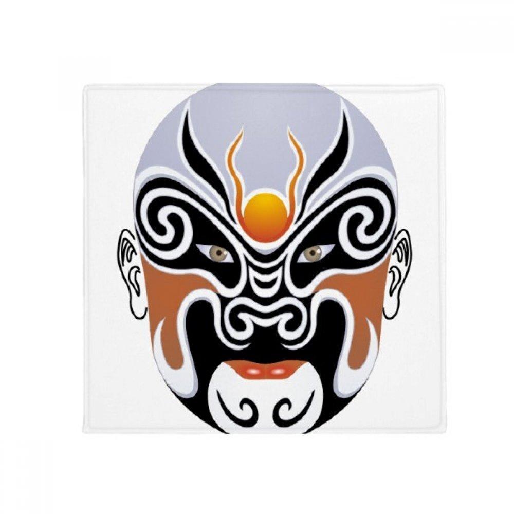 DIYthinker Peking Opera Facial Mask colorful Huarongdao Anti-Slip Floor Pet Mat Square Home Kitchen Door 80Cm Gift