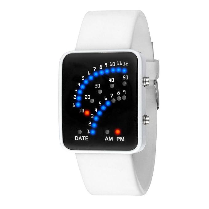 Macho Reloj digital, hosamtel Mens LED deportes electrónicos reloj de pulsera, silicona, niños