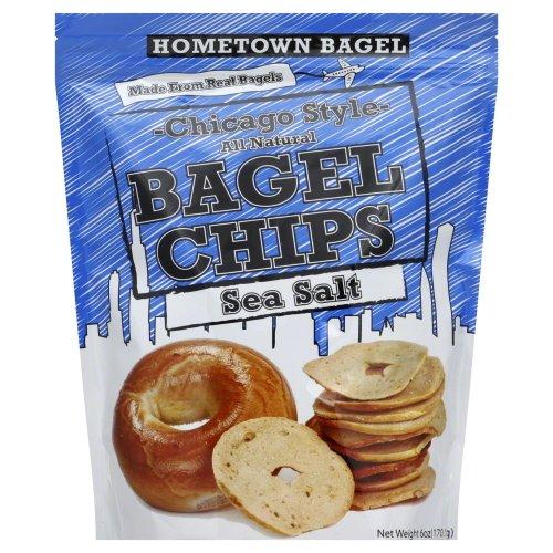 Chip Bagel Sea Salt 6 OZ (Pack Of 12) by Hometown Bagel
