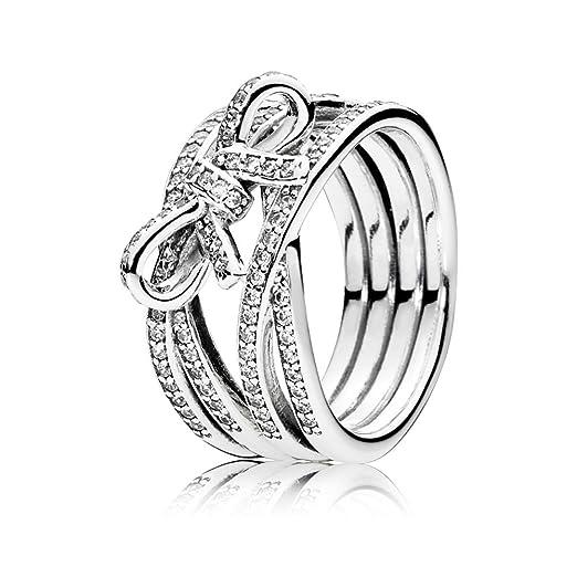 PANDORA - Los sentimientos de anillos de plata delicada 925/1000 PANDORA 190995CZ - 54: Amazon.es: Relojes