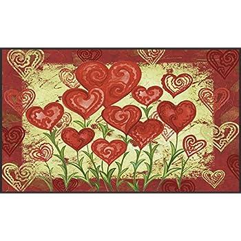 outdoor shower mats amazoncom densy door mats valentines day fabric indoor