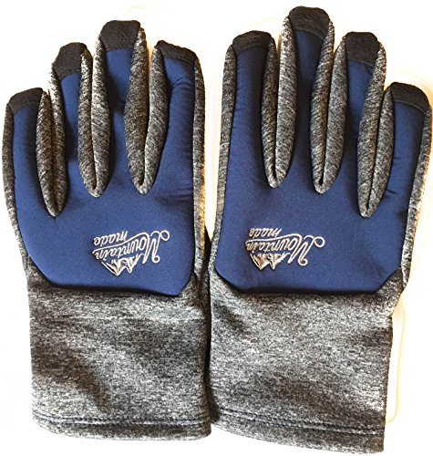 Mountain Made Bierstadt Cold Weather Active Wear Winter Gloves For Men and Women (Large, Blue)