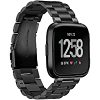iRunzo for Fitbit Versa Bands Replacement Metal Stainless Steel Bracelet Wristband Strap Accessory