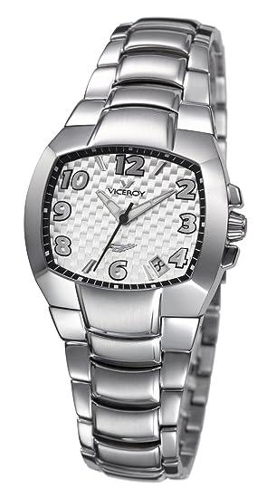 Viceroy Reloj analogico para Hombre de Cuarzo con Correa en Acero Inoxidable 432020-95: Amazon.es: Relojes