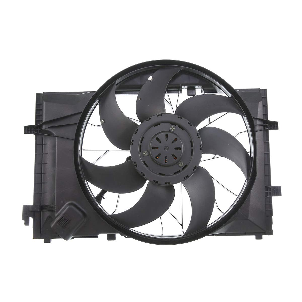 A-Premium Radiator Cooling Fan Assembly for Mercedes-Benz C230 C280 C320 C350 CLK320 350 2002-2009