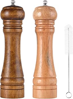 SUZAH Salt and Pepper Grinder – Oak Wooden Salt and Pepper Shakers