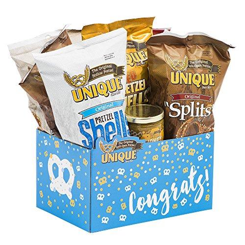 Unique Pretzels Congrats Gift Basket Box