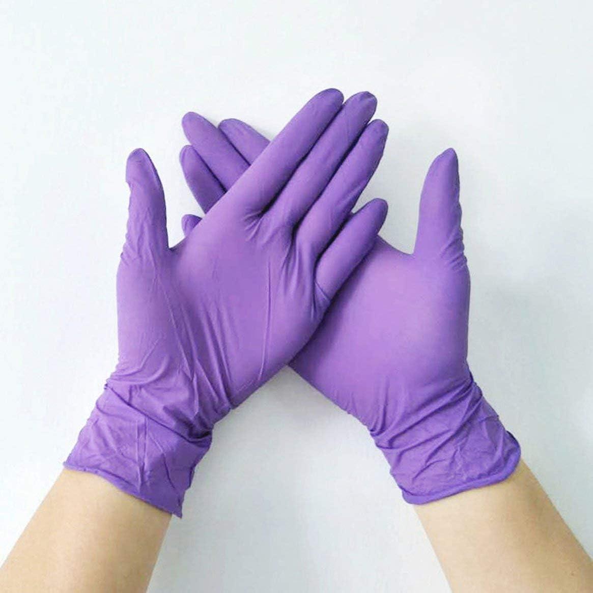 Prima05Sally Guantes Desechables de Goma de nitrilo para Lavar Platos//Cocina//Trabajo//Goma//Guantes de jard/ín 100 Piezas S