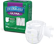 FitRight Ultra Adult Diapers, Disposable Incontinence Briefs with Tabs, Heavy Absorbency, Medium, 32