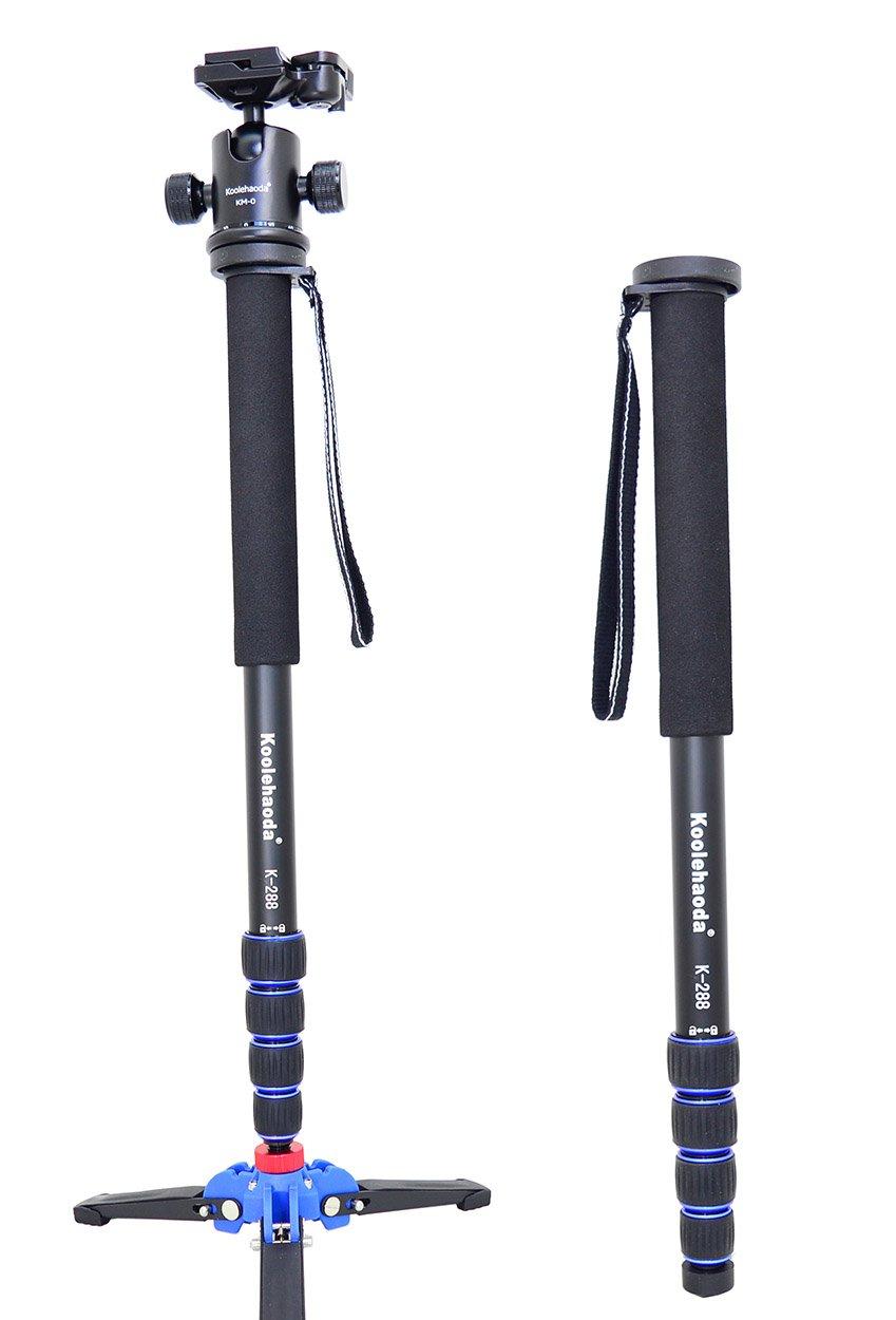 koolehaoda Camera Aluminum K-288 Monopod A2 Three Feet Stand Support Base /& K-09 Ballhead DSLR Camera Canon Nikon 69-inch. Extended Max Height