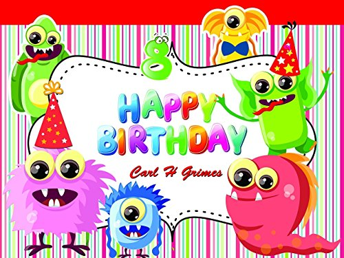 Custom Home Decor Cartoon Monster Birthday Poster for Kids - Size 24x36, 48x24, 48x36; Personalized Monster Birthday Banner Wall Décor, Handmade Party Favors Poster Print