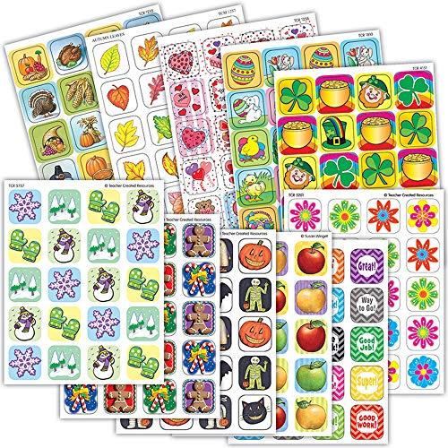 - Teacher Created Resources TCR9796 Seasonal/Holidays Sticker Set (Pack of 1440)