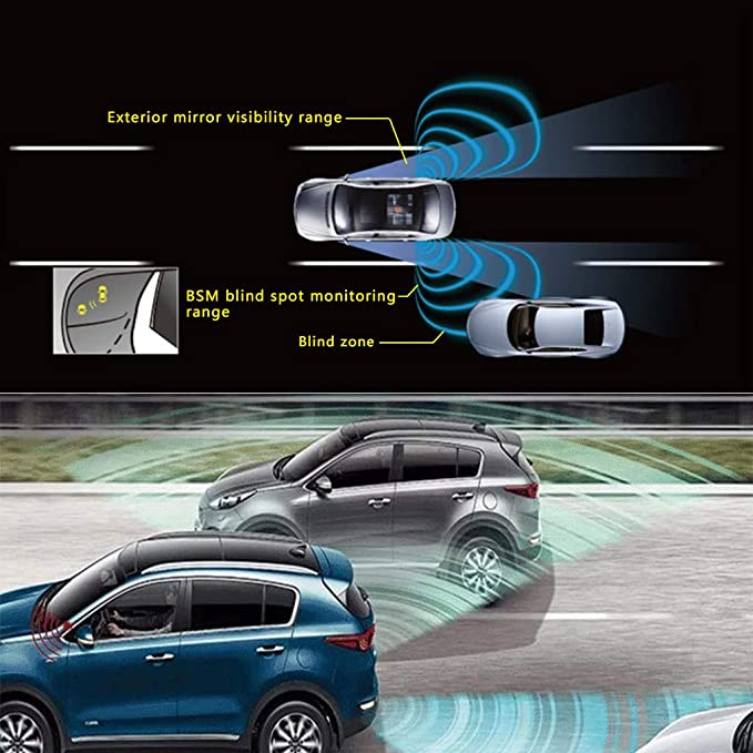 Side Rear Blind Spot Assist BSA Sensor 1Set For Hyundai Tucson 2010 2012
