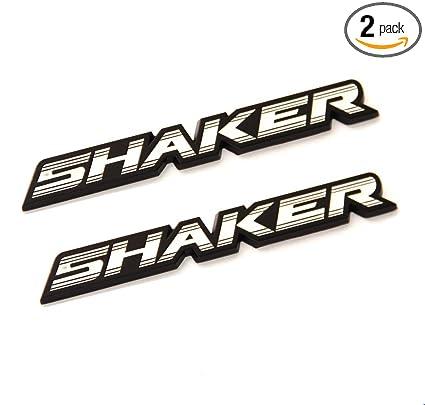 2x OEM SHAKER Hood Emblems Badge 3D Dodge Challenger Charger L White