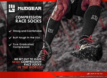 Amazon.com: MudGear Premium Compression Socks - Mens ...