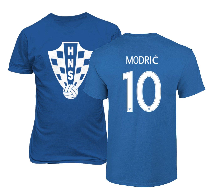 best service 9d900 8c6ff Tcamp Croatia 2018 National Soccer #10 Luka MODRIC World Championship Men's  T-Shirt