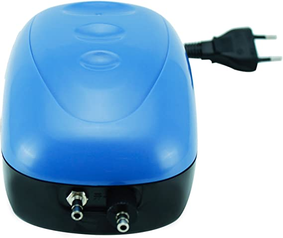 Oxigenador Compresor de una Unica Salida Con 1x Manguera BPS  Bomba de Aire 2x Valvulas de retenci/ón y 2x Difusor de Aire BPS-6030