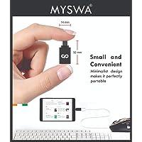 MYSWA Plug 39 Type C to USB 3.0 A Female OTG Adapter - Black