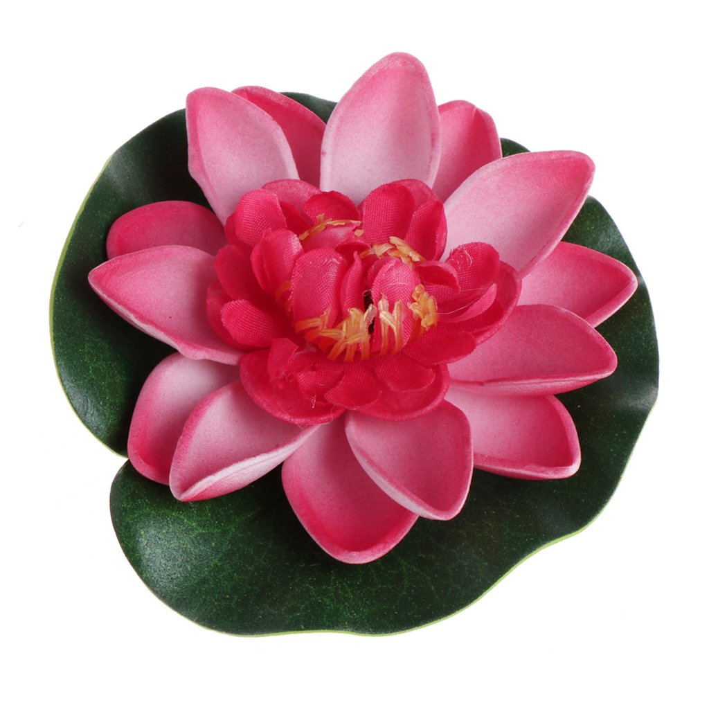 Jagenie Artificial Fake Floating Flowers Lotus Water Lily Plants