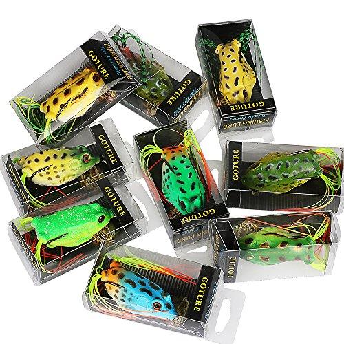 Shelure topwater lures frog soft bait kit swimbait for for Bass fishing kit