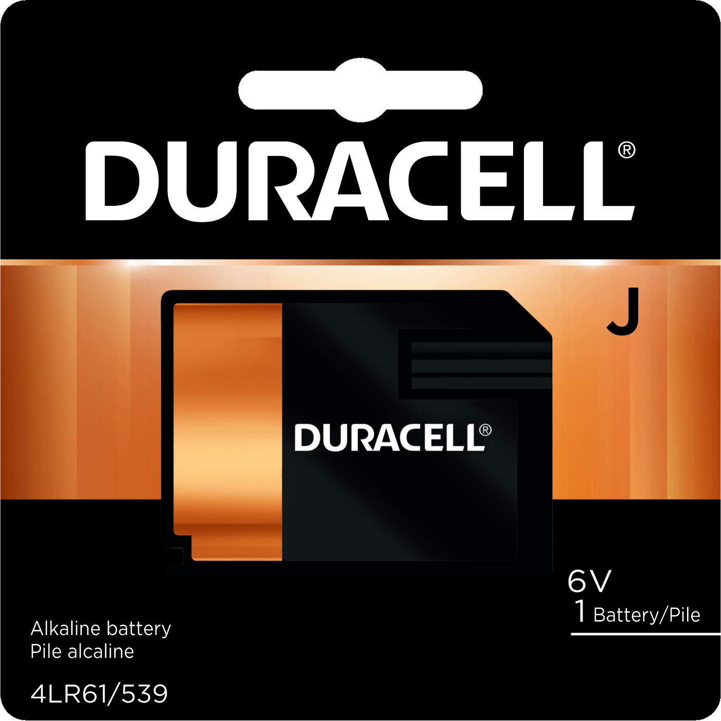 Duracell – J 6V Specialty Alkaline Battery – long-lasting battery – 1 count 7K67BPK