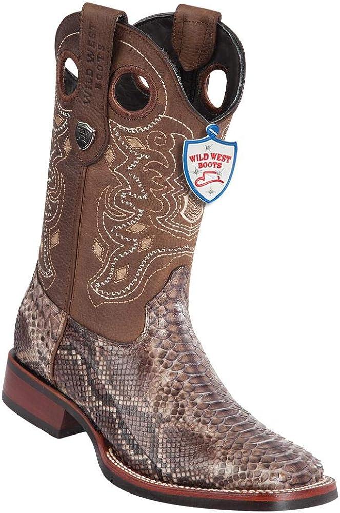 Men's Wild West Square Toe Python Boots