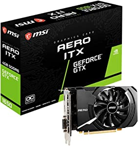 MSI Gaming GeForce GTX 1650 128-Bit HDMI/DP/DVI 4GB GDRR6 HDCP Support DirectX 12 VR Ready OC ITX Graphics Card (GTX 1650 D6 AERO ITX OC)