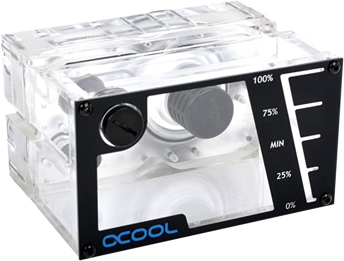 Alphacool 15171 Repack - Single Laing D5 - Dual 5,25 Bay Station Water Cooling Reservoirs