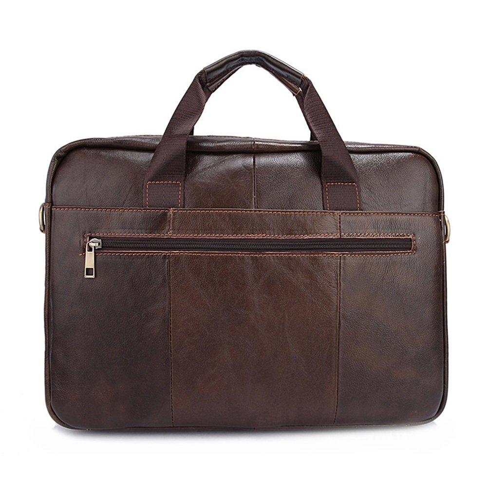 39x27x7cm Color : Dark Brown Multi-Color Optional XFRJYKJ- Mens briefcase Mens Bag Casual Business Briefcase Cross Section Mens Shoulder Messenger Bag Handbag Tide