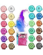 SnailDigit Mica Powder, 24 Colors Resin Pigment Powder: Mica Pigment Powder for DIY Epoxy Resin/Soap/Bath Bombs/Lip Gloss/Nails/Candle