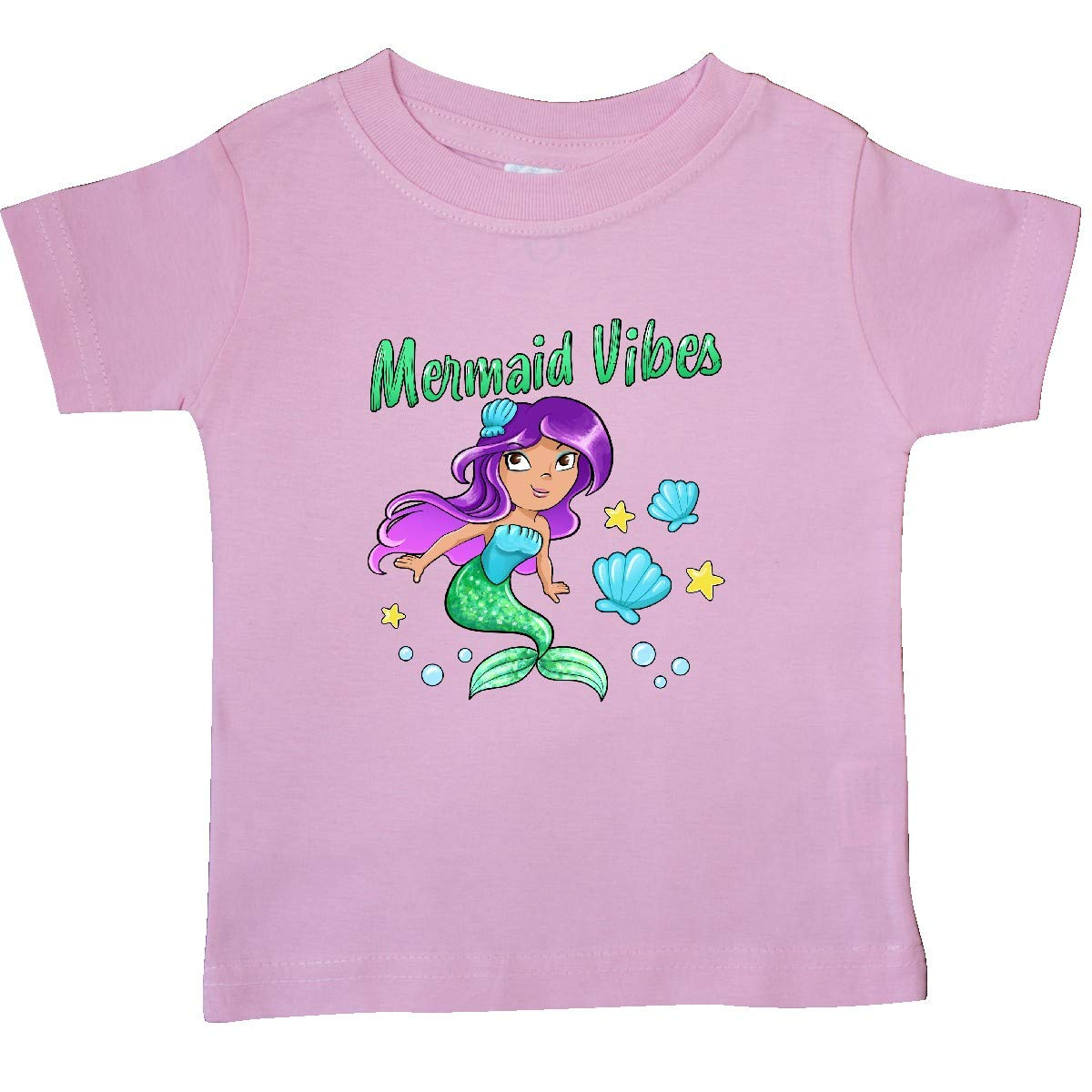 Cute Mermaid with Green Tail Baby T-Shirt inktastic Mermaid Vibes