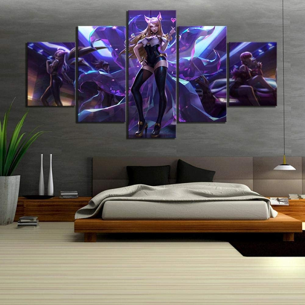 ManMan Decoration Canvas Print Painting Home Decoration Print Painting Hd Picture 5 Panel Cartoon Character World Hero Game Wall Art Hd Modular Canvas Poster Bedroom 150 X 100 Cm Oil Painting Wall Pai