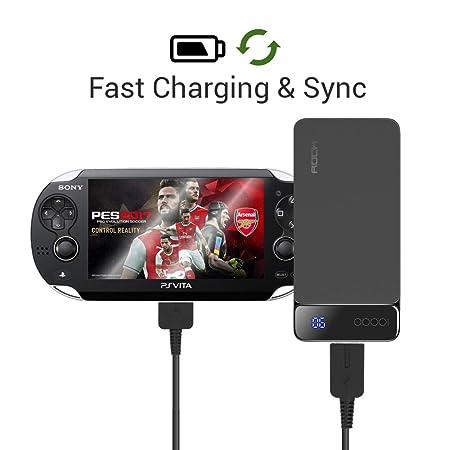 Amazon.com: exinoz PlayStation PS Vita Cargador 1,2 m ...