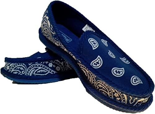 BLACK AND ROYAL BANDANA HOUSE SHOES SLIPPERS TROOPER BRAND NEW SIZE 8-13