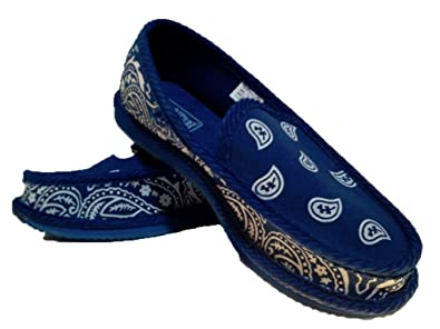 3436dc2fb5d2 Royal Blue Bandana House Shoes Slippers Trooper Size 8 9 10 11 12 13 (8