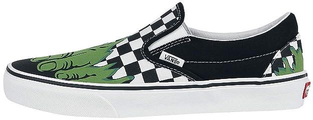 6dd04918eda8 Vans Marvel Hulk Slip-On Sneakers Black-White EU45  Amazon.co.uk  Shoes    Bags