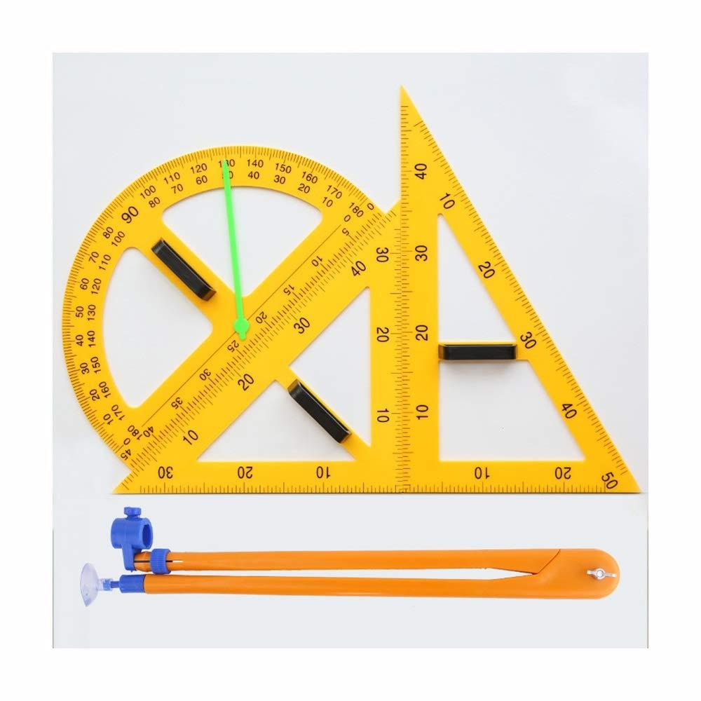 Yaohai Magnetic Digital Triangle Set Learning Art Ruler Blackboard Compass Multi-Function Parallel Primary School Mathematics Teaching Aids by Yaohai