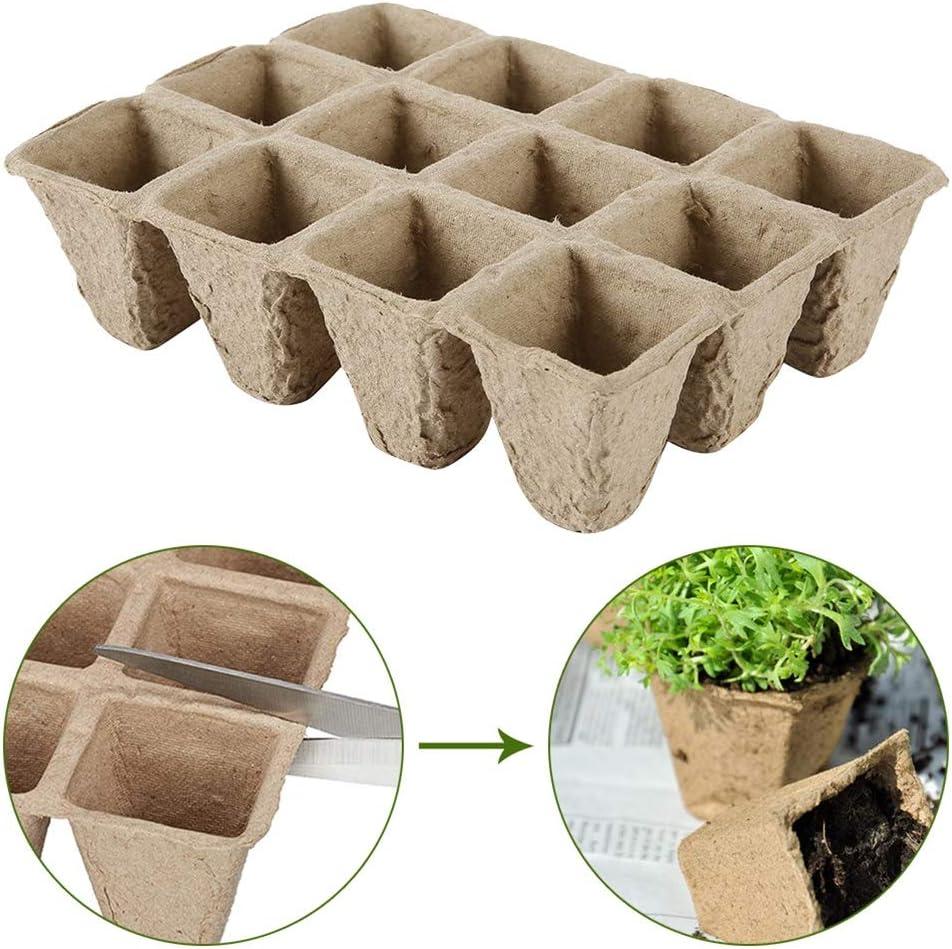 Akemaio Plant Starter Peat Pots 10Pcs Bandejas de Inicio de Semillas Plantas de jard/ín Vivero Macetas de Papel Biodegradable Plantas de Cultivo de pl/ántulas