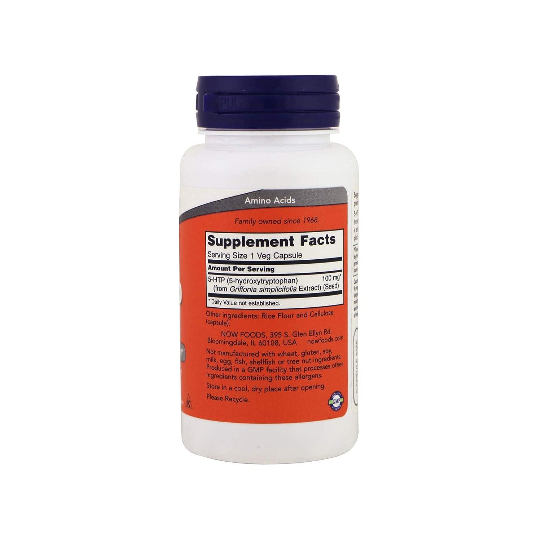 Now Foods 5-HTP 100mg Standard - 60 Cápsulas: Amazon.es: Salud y cuidado personal