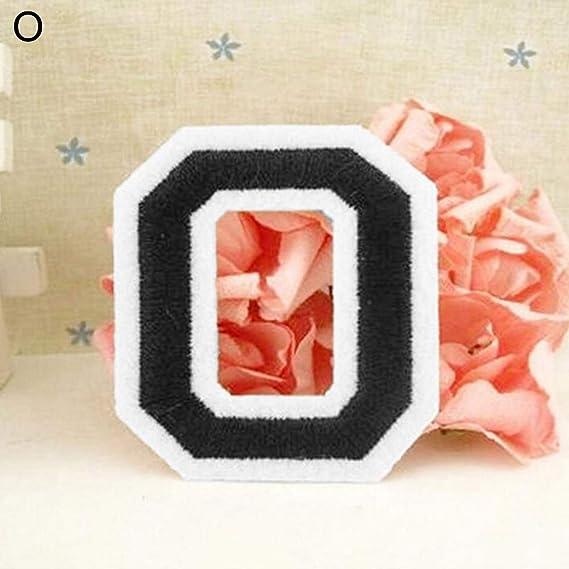 S Bois Feli546Bruce Kit de couture avec lettres de lalphabet anglais A-Z brod/ées /à coudre ou /à repasser multicolore
