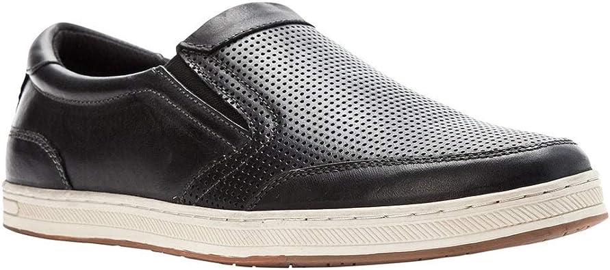 Polyurethane Prop/ét Propet Mens Logan Nubuck Nylon Rubber Slip On Sneakers