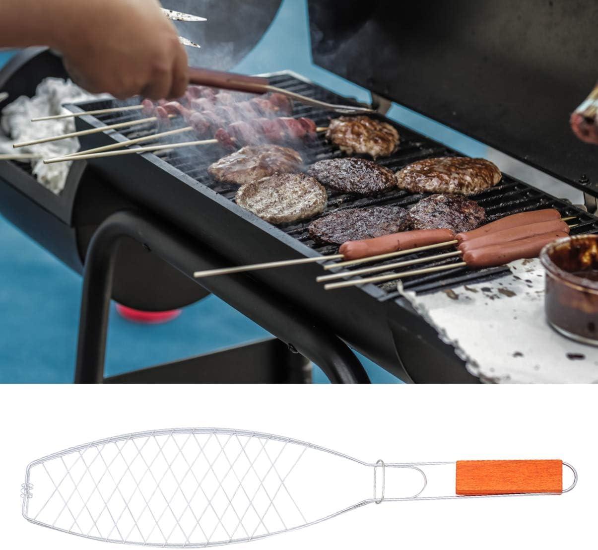 YARNOW 2 Pcs Poisson Grill Paniers Barbecue Griller Paniers Antiadhésif Barbecue Grill Mesh Outils pour Camping Pique-Nique Comme montré 2pcs