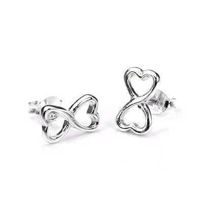 earrings symbol prince earstud handmade silver love rememberance sterling zeige
