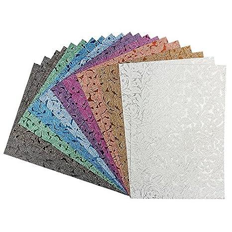 Effekt Papier Floral Design Metallic Din A4 128gm² 20 Blatt Bastelpapier Glitzerpapier Für Grußkarten Scrapbooking Diy Karten Basteln