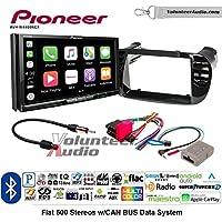 Volunteer Audio Pioneer AVH-W4400NEX Double Din Radio Install Kit with Wireless Apple CarPlay, Android Auto, Bluetooth Fits 2012-2015 Fiat 500 (Black)